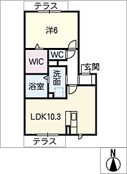 仮)D−room西羽田町[1階]の間取り