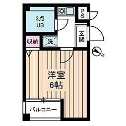 神奈川県相模原市南区豊町の賃貸マンションの間取り
