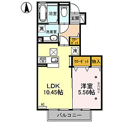 (仮)D-room川中島(川中島町四ツ屋)[102号室号室]の間取り