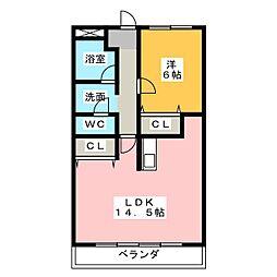 春日井駅南ハイツ[3階]の間取り