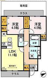 リヤン永井[1階]の間取り