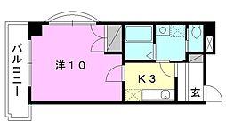 駅前マンション田窪[208 号室号室]の間取り