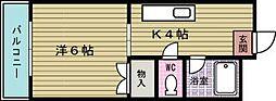 GROWTH SI 守恒(グロースSI守恒)[403号室]の間取り