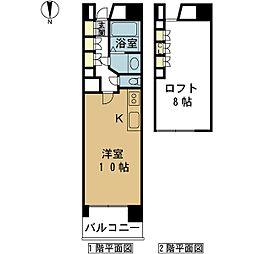 PIER624[5階]の間取り