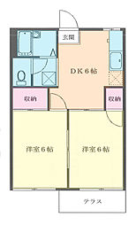 埼玉県和光市新倉3丁目の賃貸アパートの間取り