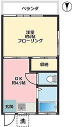 小野澤荘A 50B[201号室]の間取り