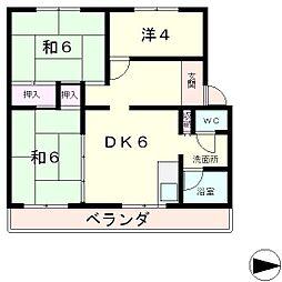 メゾンみづほ[5階]の間取り