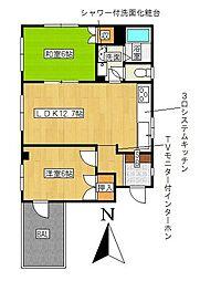 愛知県名古屋市千種区松竹町2丁目の賃貸アパートの間取り