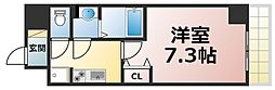 Osaka Metro千日前線 新深江駅 徒歩2分の賃貸マンション 8階1Kの間取り
