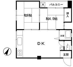 日和ビル[2階]の間取り