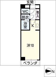 アーバンスペース駒[4階]の間取り