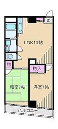 コートドール[4階]の間取り