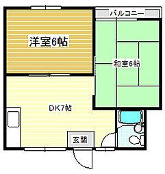 瀧川ハイム[2階]の間取り