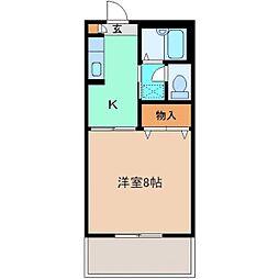 セフィラ Y・K B棟[102号室]の間取り