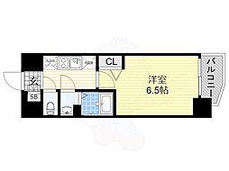 近鉄南大阪線 河堀口駅 徒歩3分の賃貸マンション 1階1Kの間取り