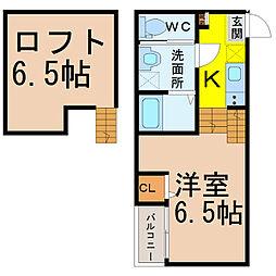 Stage 名駅 (ステージメイエキ)[2階]の間取り