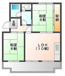サンシャイン芝田[1階]の間取り
