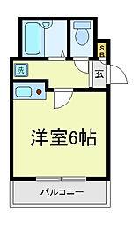 エスティ寺田町むつみ[3階]の間取り