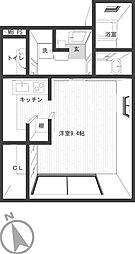 ラ・ファミール[203号室]の間取り
