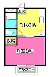 EXCEED西所沢[3階]の間取り