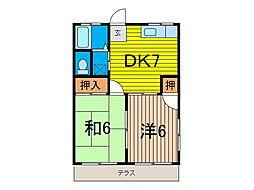 横山コーポ[2階]の間取り