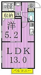 カーサフェリーチェ(鎌ヶ谷)[2階]の間取り