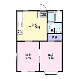ルミエール湘南 ステージ2[1階]の間取り