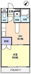 モンパレス3[2階]の間取り