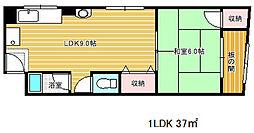 マンション花隈[3階]の間取り