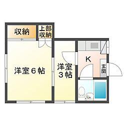 成川ハイツ[B2号室]の間取り