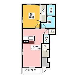 ユートピーI[1階]の間取り