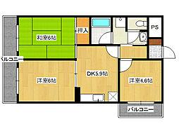 フローレス田島[2階]の間取り