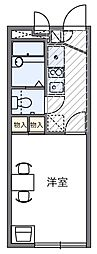 西武新宿線 狭山市駅 徒歩16分の賃貸マンション 1階1Kの間取り