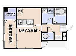 セブンプロート坪井A棟[3階]の間取り