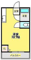 クオリティ箕面[2階]の間取り