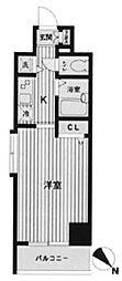 東京都千代田区東神田3丁目の賃貸マンションの間取り