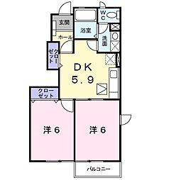 フェーンコート[1階]の間取り