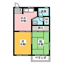 セゾン浅岡[2階]の間取り