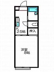 千秋コーポ駅東[105号室]の間取り