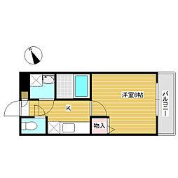 岡山県岡山市中区原尾島4丁目の賃貸アパートの間取り