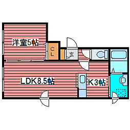 ESQUISSE-AYAMENO[1階]の間取り