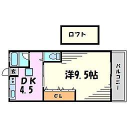 ウィーブ甲子園浜田町[2階]の間取り
