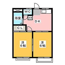 スカイハイツ[2階]の間取り
