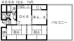 プラネット藤井寺[208号室号室]の間取り