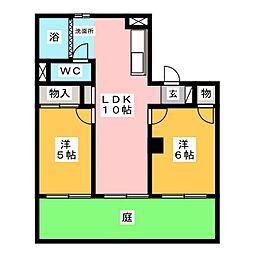 メゾンさくら[1階]の間取り