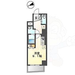 Chez Kotobuki 〜シェ・コトブキ〜 3階ワンルームの間取り