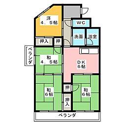 中花ビル[3階]の間取り