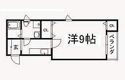 京都府京都市中京区西夷川町の賃貸マンションの間取り