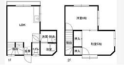 [テラスハウス] 神奈川県横浜市中区千代崎町2丁目 の賃貸【/】の間取り