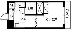 東雲コーポ[4階]の間取り